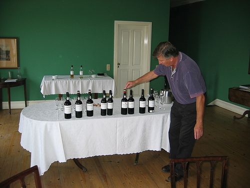 Johnny Graham with the port tasting at Churchill's