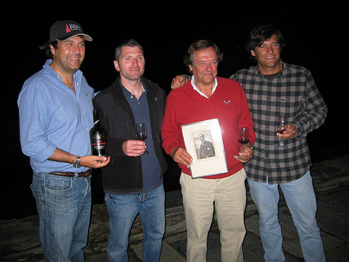 Tomas Roquette, Andy, Jorge Roquette and Miguel Roquette at Quinta do Crasto