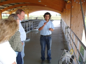 assistant winemaker Juan Pablo in the open air winery of Altacima