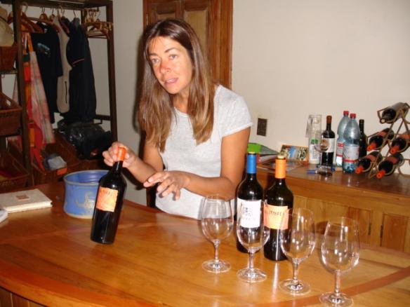 Marina at our tasting at Antiyal