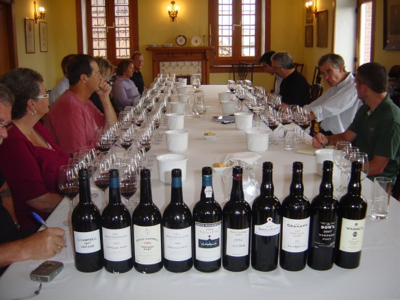 our tasting in the board room of Graham's Lodge with Paul Symington