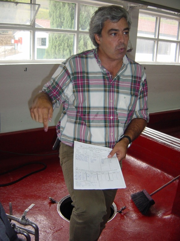 winemaker Joao Pedro Ramalho at Quinta do Bomfim