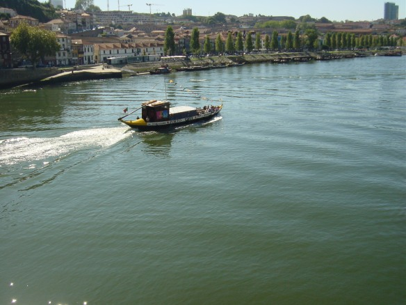 a rabela boat on the Douro River