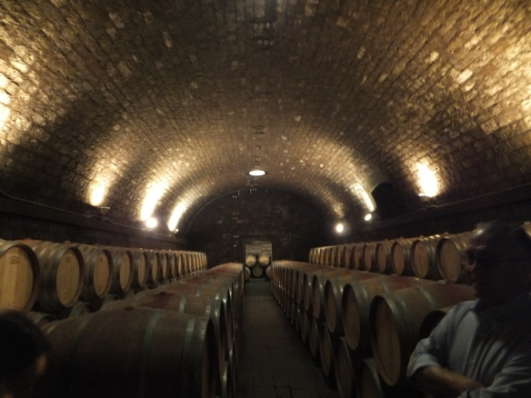 the cellars at Badia a Passignano