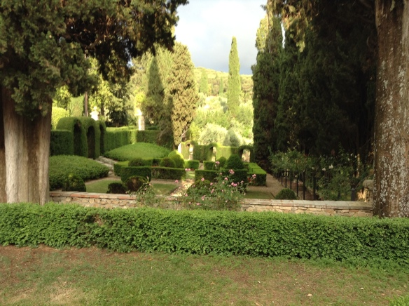 the grounds at Villa Vignamaggio