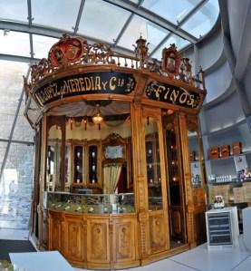 inside the wine shop of R. Lopez de Heredia