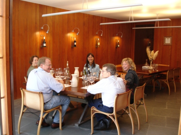our tasting at Matetic with winemaker Paula Cardenas (Paula is at the far end of the table)