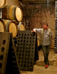 David Pehu in th Pehu Simonet cellars