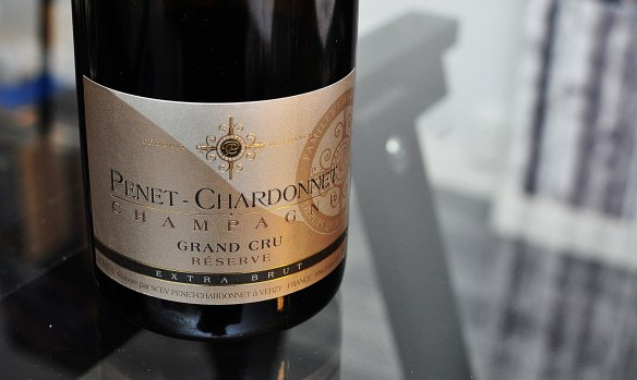 tasting at Penet Chardonnet (the labels are very classy)