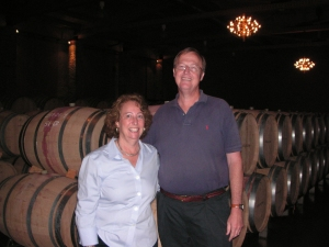 Charlie and me in the barrel room at Emilio Moro