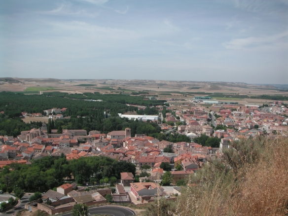 View from castle at Penafiel