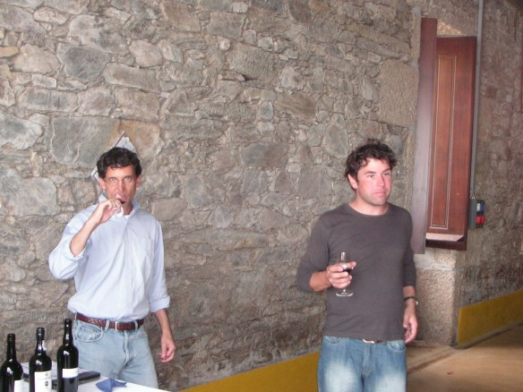 Tasting at Warre's Quinta da Cavadinha with Miles Edlmann and Dan Carbon