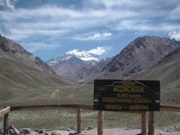 on our drive over the Andes