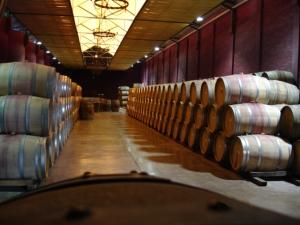Viu Manent's barrel room