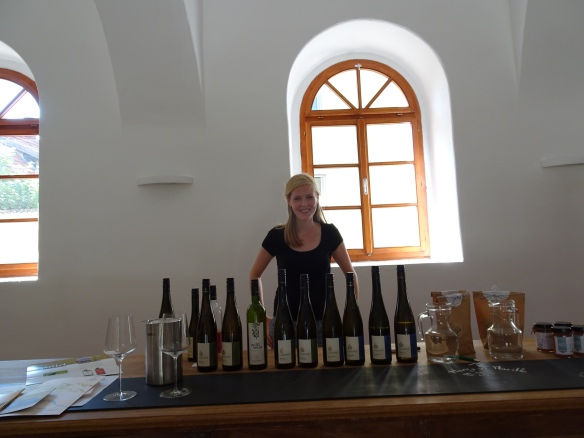 Maria Maier with the wines we tasted