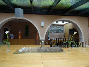 the tasting room at Tegernseerhof