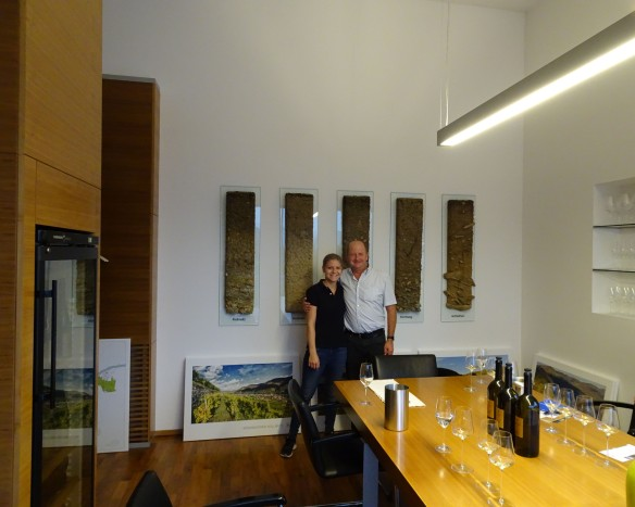 at Weingut Rudi Pichler with Rudi with his daughter Theresa