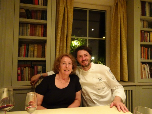 me with Chef Thomas Dorfer at Landhaus Bacher