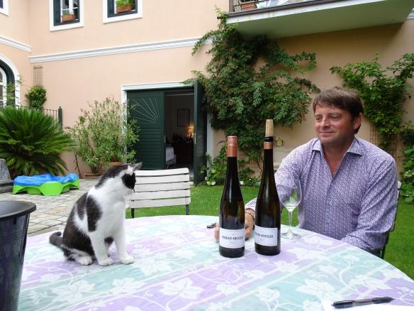 Erich Krutzler at our tasting at Pichler-Krutzler