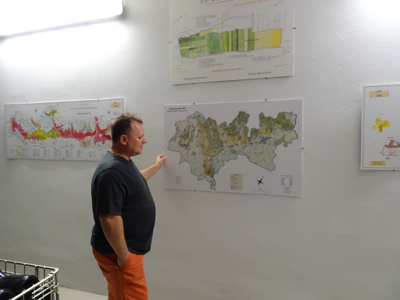 Zoltán Demeter showing us the location of his vineyards