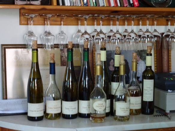 the wines we tasted at Hudácskó Pincészet