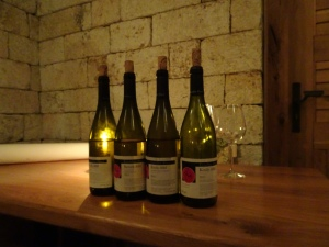 the dry white wines we tasted at Erzsébet Pince