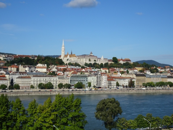looking across to the Buda side
