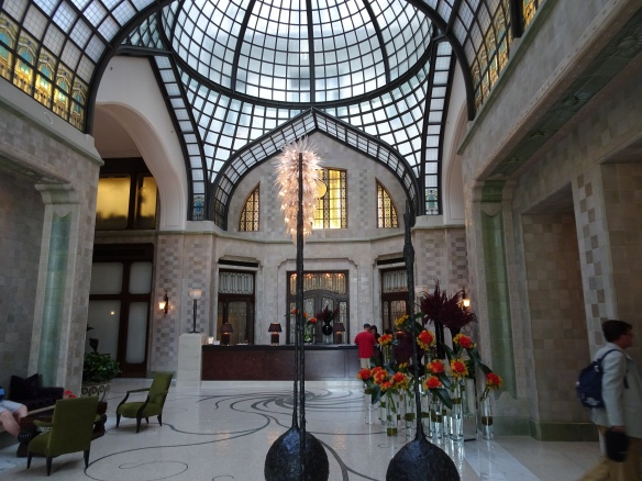 the lobby of the Four Seasons Gresham Palace