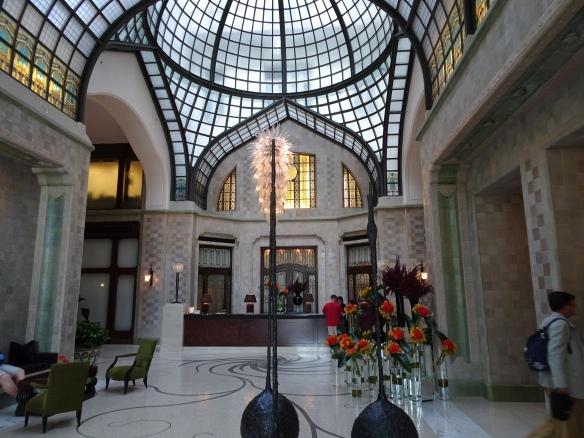 the lobby of the Four Seasons Gresham Palace
