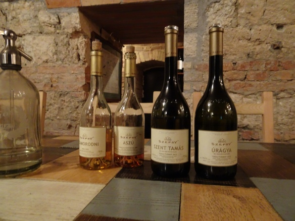 the Szepsy wines we drank on our Danube River cruise